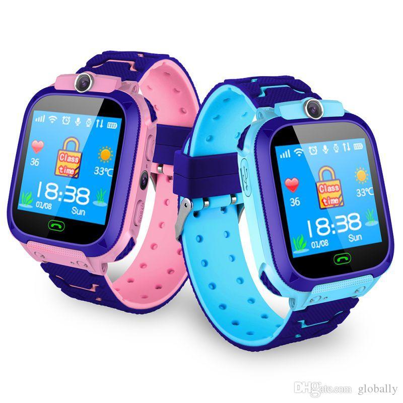 الجديد Q12 الأطفال الذكية ووتش للماء GPS مكتشف محدد لمكافحة خسر SOS الدعوة كاميرا SmartWatches الأطفال الطفل ووتش