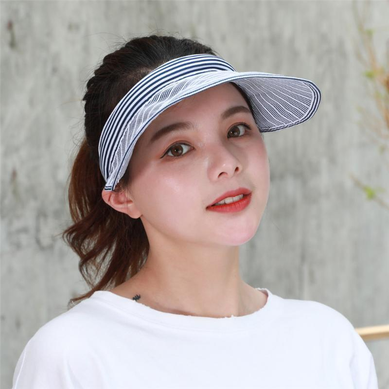 Women Baseball Hat Foldable Empty Top Breathable Casual Caps for Summer QL Sale