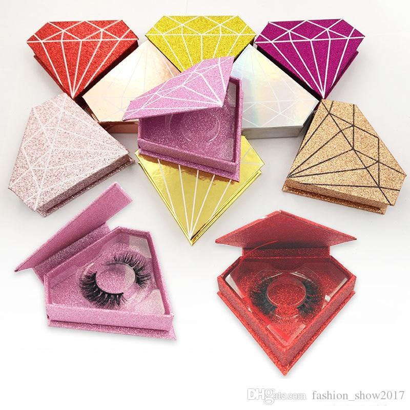 Neueste 3D mehrschichtige Crown Lashes Faux Nerz Wimpern 3D Lashes Natürliche dicke Wimpern Diamond Box Wimpern