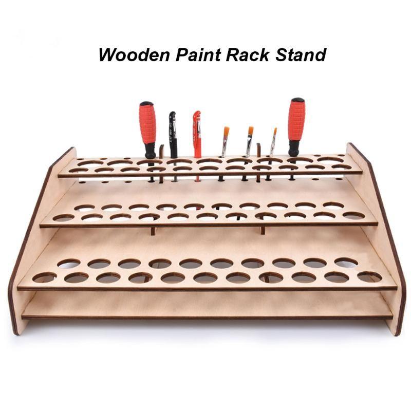 DIY Holzständer Farbe Rack-Malerei Ink-Flaschen-Speicher-Halter-Organisator Pigment Shelf Paintings Bracket Bürsten Werkzeugständer