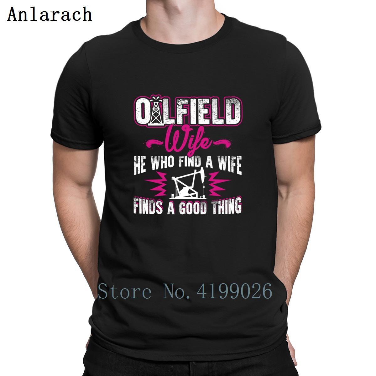 dos homens do desenhista Oilfield esposa T-shirts Top Tee Famoso tendência camiseta de algodão a nova primavera roupas Anlarach