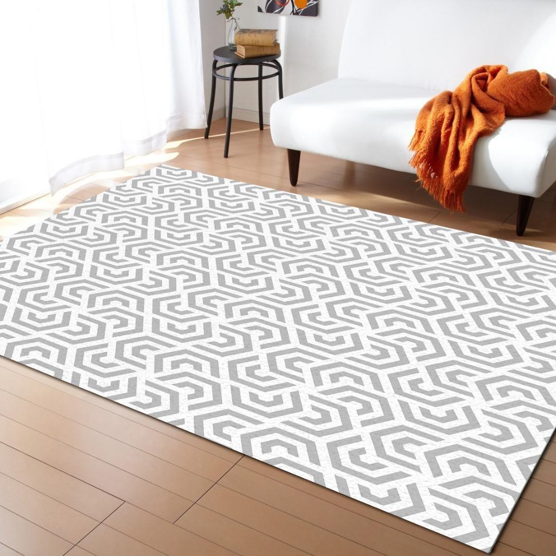 Ripetendo esagonale Motivo ornamentale Moderno Tappeti per soggiorno geometrica Tappeti Grande antiscivolo Safety Carpet
