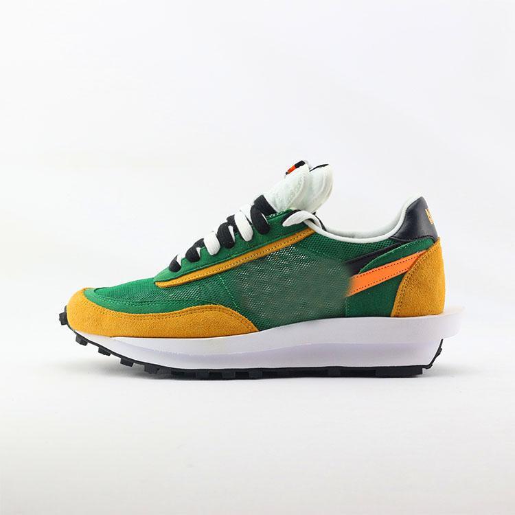 New Sacai LDV Waffle blue green athletic shoes For men women fashion sneaker black white Camping Hiking running jogging trainer shoe 36-45