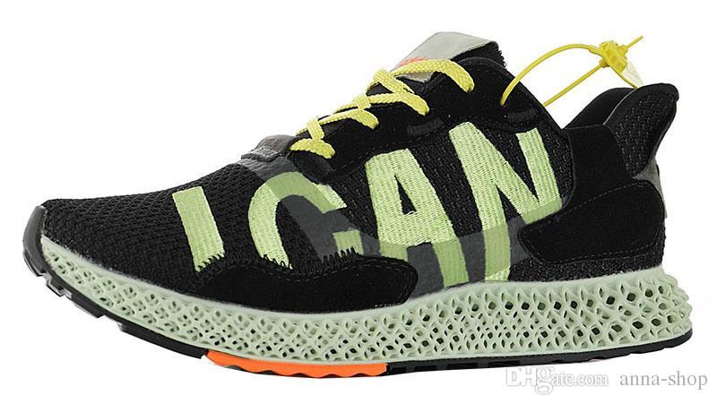 Mens Zx4000 Futurecraft Scarpe Da Ginnastica Per Gli Uomini di carbonio Sneakers Uomo Onix runningg scarpe delle donne Hender schema di scarpe sportive maschio ZX 4000 voglio può