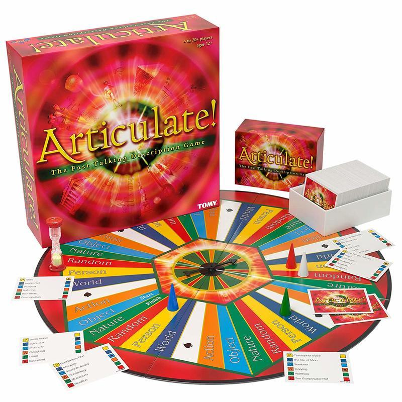 ARTICULATE Board Game Multiplayer Speak Words Interactive English Turntable Card Game Educational Toys