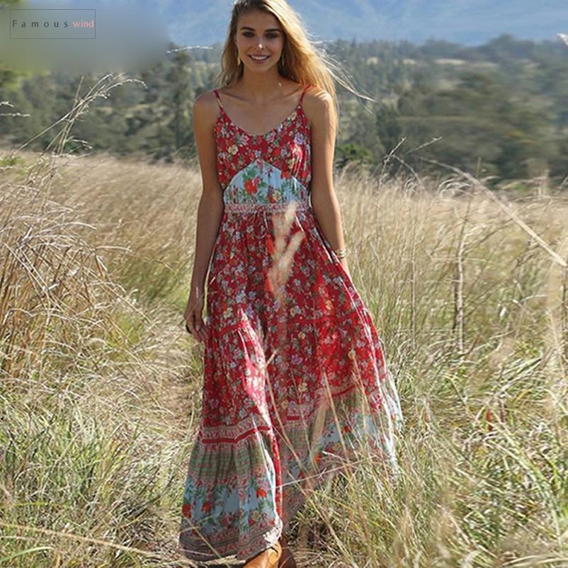 Повседневные 2019 женщин лето платья Спагетти ремень пляж платье Sexy V шея Женщина Макси платья Длинных Vestidos