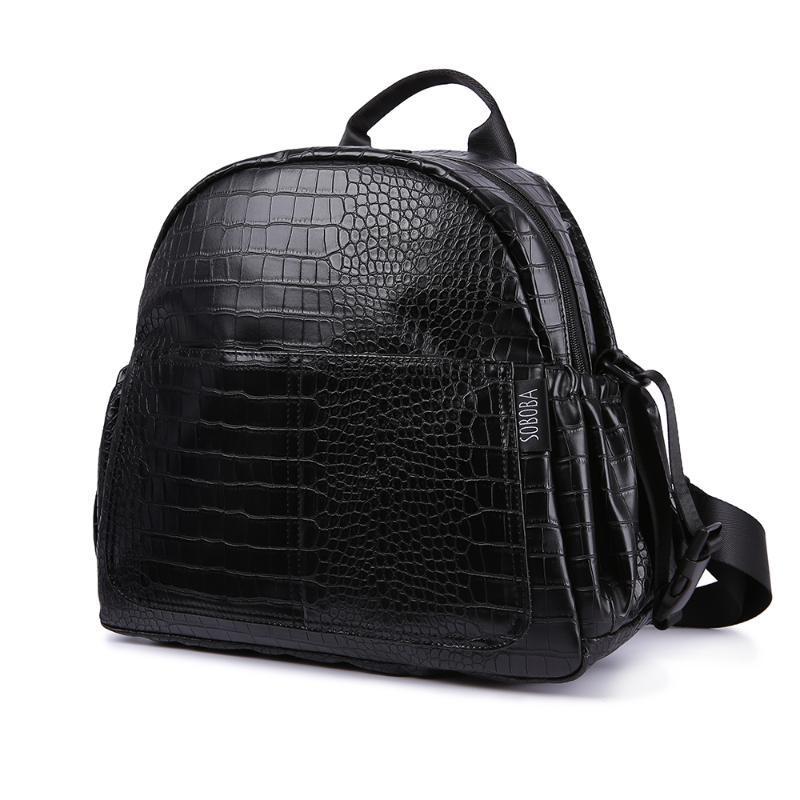 ماء حفاضات حقيبة الظهر للالحفاض حقيبة الأم الحجر الأسود نمط سعة كبيرة للاطفال حديثي الولادة السفر تغيير حقيبة الظهر