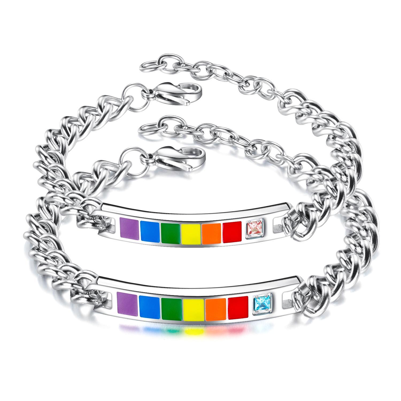 браслеты для пар из нержавеющей стали титан ленты ручной цепи сердца контактной сети женских украшений для Валентина подарков