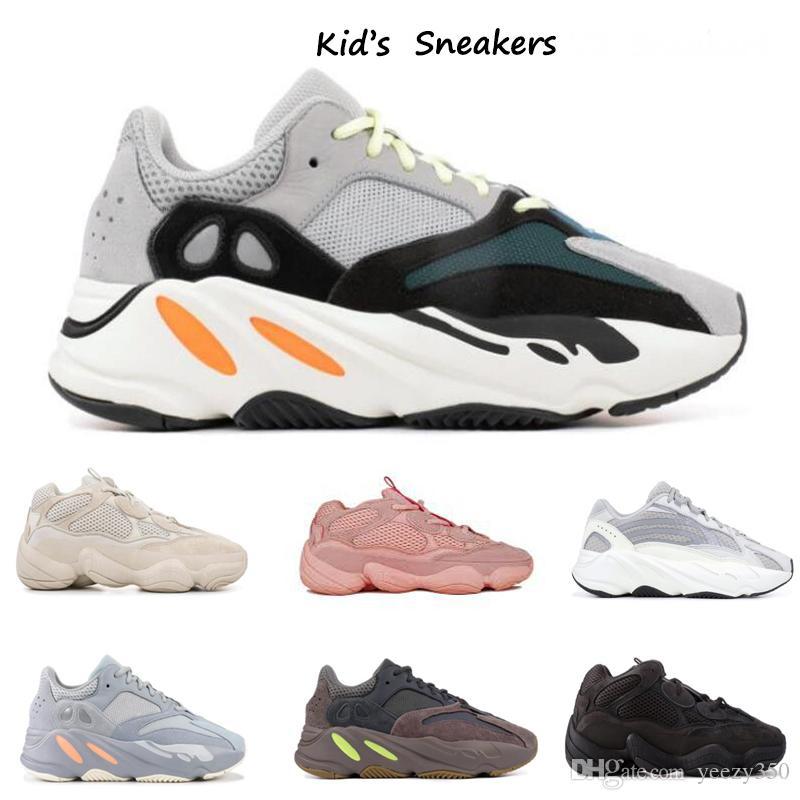 أحذية أطفال جديد الغربية موجة عداء Kids ADIDAS YEEZY BOOST 500 700 V2OO فتاة الاحذية 5OO طفل الطفل مدرب بوي أحذية رياضية للأطفال أحذية رياضية أسود أحمر
