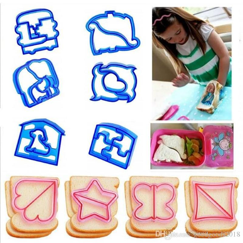 Hot Sandwich Mould Cutter Bear Car Dog Teris Shape Baking Cake Bread Toast Mould Maker 9 style ST523