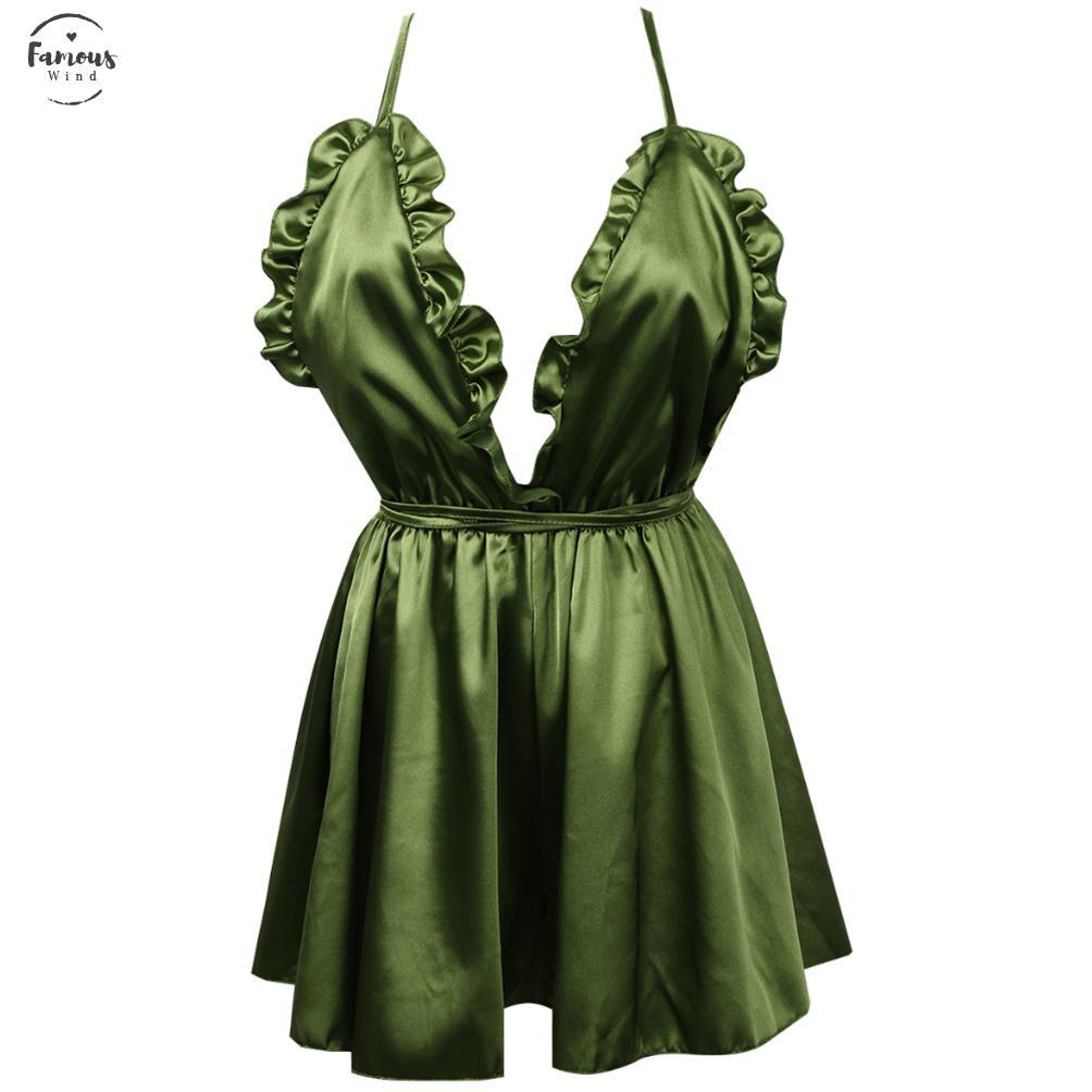 ملابس النساء الداخلية المثيرة على شكل أزهار الملابس الداخلية المثيرة رباط الحرير رقبة صغيرة دمية طفل رقبة من الكتف بالإضافة إلى فستان بحجم