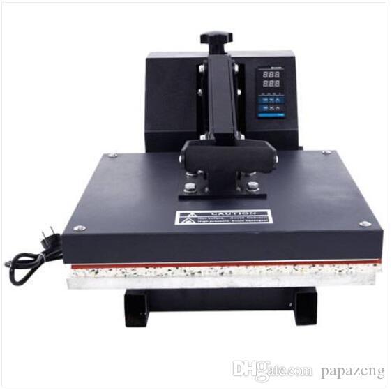 Toptan Ücretsiz kargo 38x38 Kapaklı Isı Basın Tişört Dijital Transfer Süblimasyon Makinesi