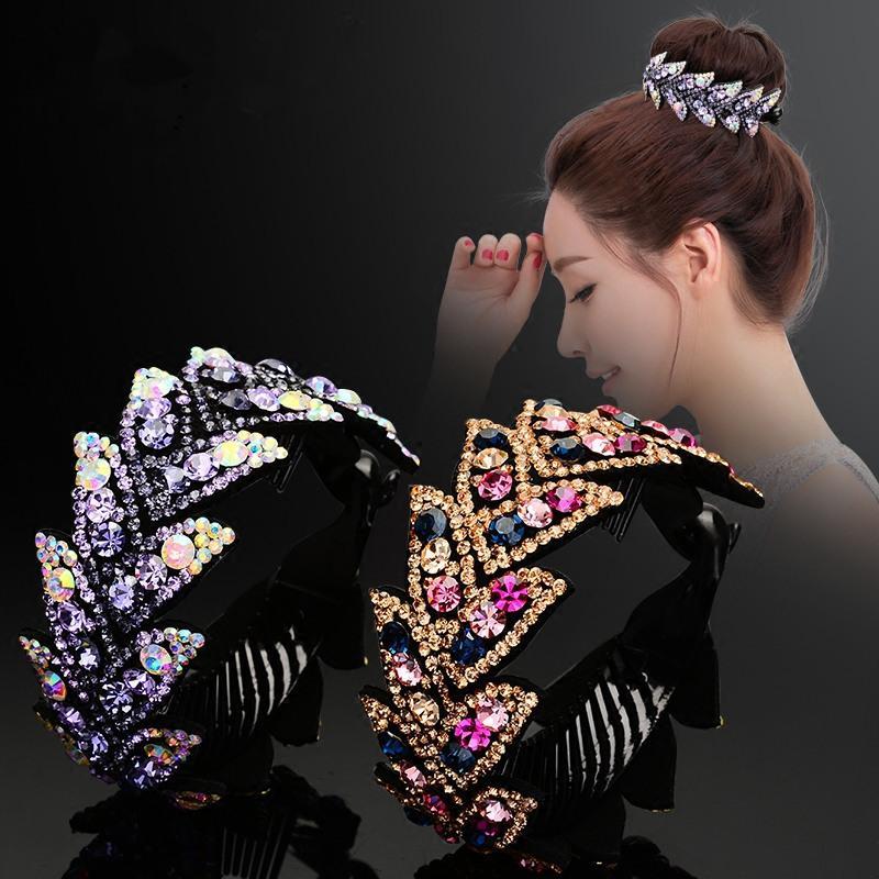 Barrettes pour cheveux en cristal Gum en plastique pour Ponytail Anneau Holder Boucle Cadeaux Femmes Hairpin Amitié
