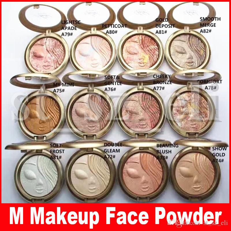 M Face Makeup Mariah Collection Carey Limited Edition Pressed Shimmer Powder Palette Highlights Bronzers 12 Colors 10g