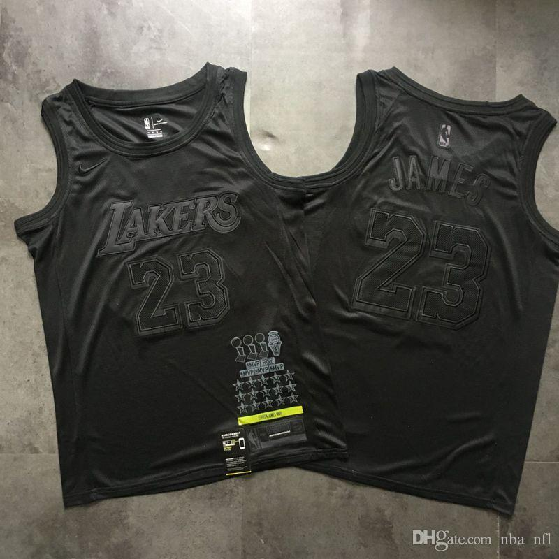 Buy jersey lakers negra cheap online