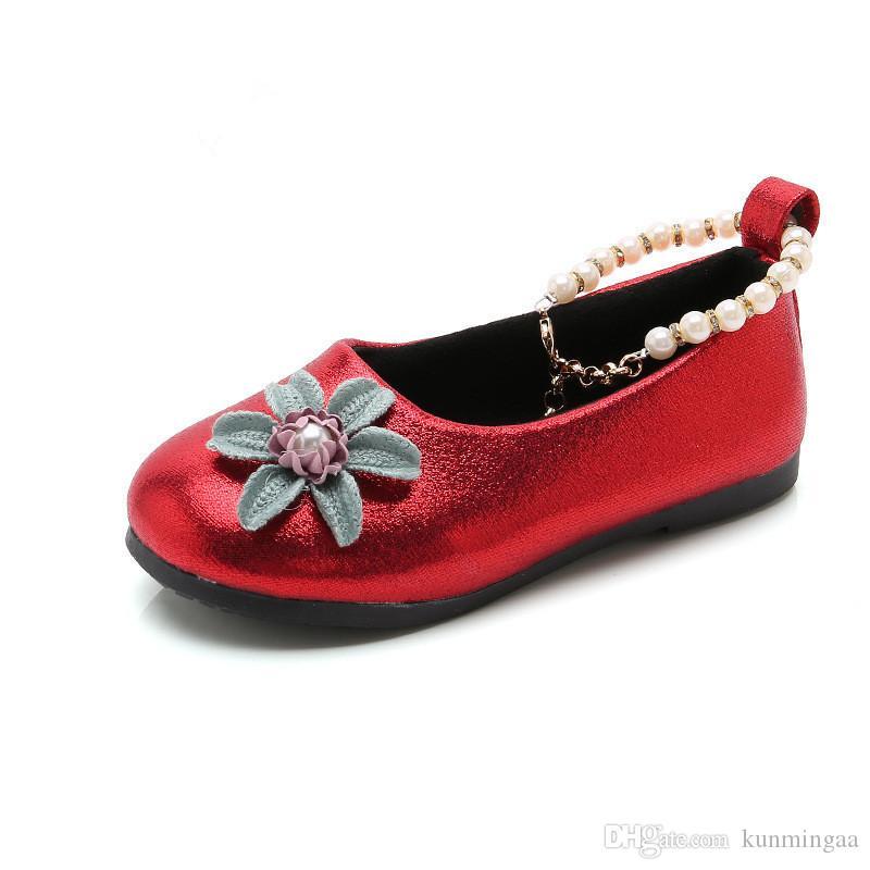 desgaste princesa PU zapatos de los niños de 3 sport del color rosa bebé niña de las flores chicas muchacho de la manera zapatos de la boda del partido negro