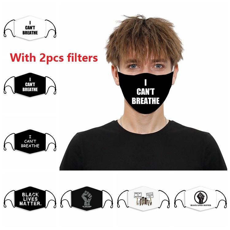 Çocuklar Yetişkin Tasarımcı Yüz Moda Bayrak 3D Baskı 2 adet PM2.5 Filtreli Toz geçirmez Yıkanabilir Yeniden kullanılabilir Ayarlanabilir Yüz Maskesi Maskesi