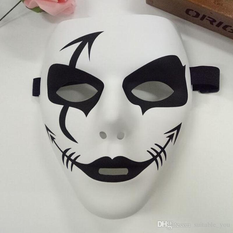 100pcs muito Jabbawockeez Máscara Máscaras dança PVC Com Graffiti Masquerade Party decorações para o Dia das Bruxas Hip-hop Wear Masculino