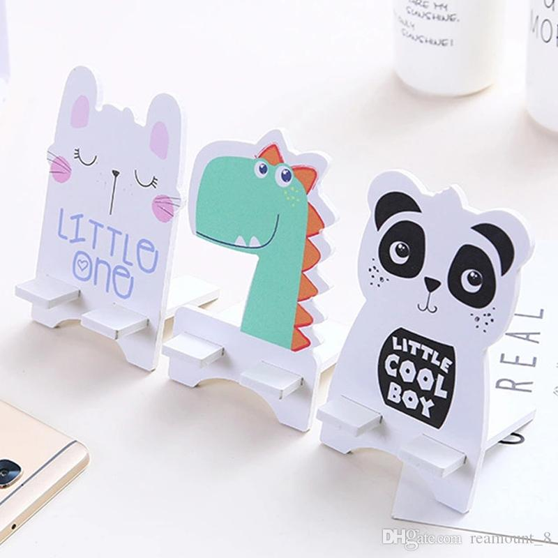 Custom Personalized cartoon phone stand Creative Wooden Mobile Phone Fashion Holder Stand Mobile Phone finger Holder Desk Stand