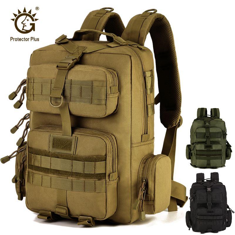 Yürüyüş Kamp Yürüyüş Yürüyüş Tırmanışı Protector Plus 30L Sırt Çantası Erkekler Molle Taktik Sırt Çantası Seyahat Backpck