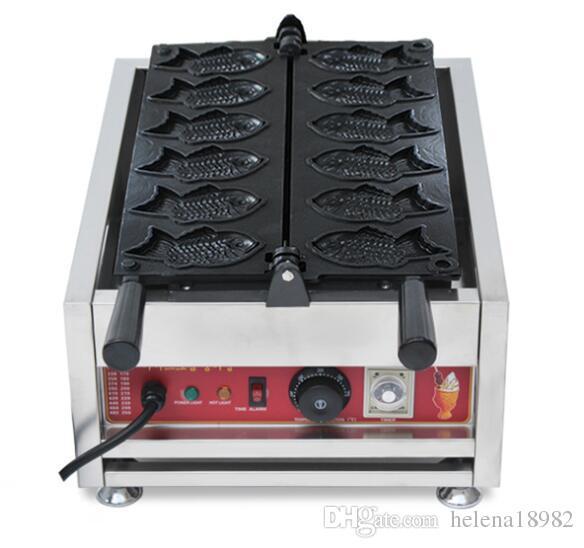 جديدة taiyaki الغاز الأسماك آلة الهراء 6 هول آلة، الياباني صانع الهراء فطيرة صانع الهراء عن مطعم الاستخدام المنزلي