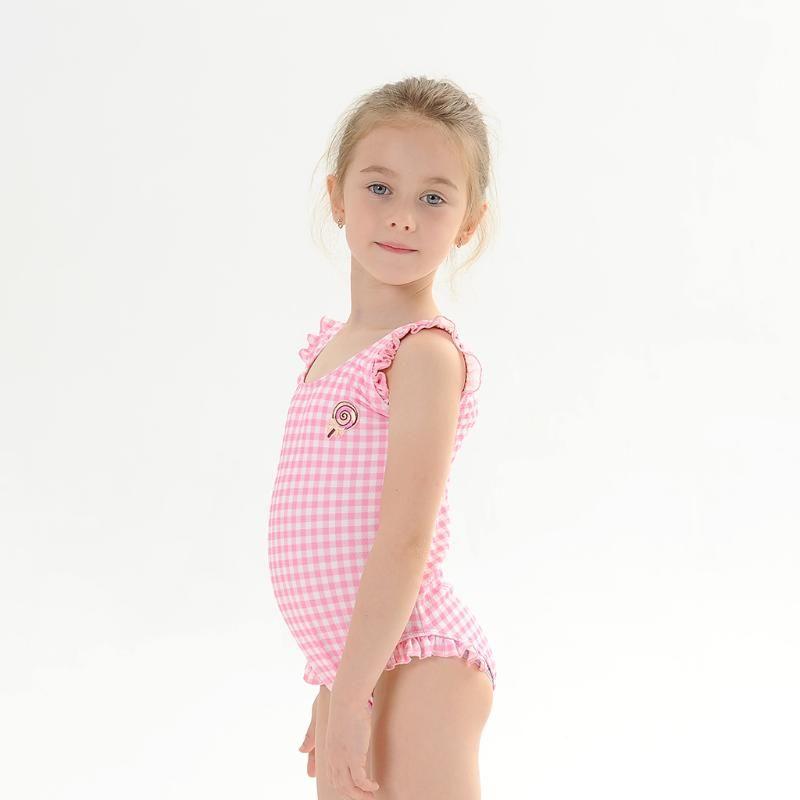 Bayanlar Kızlar bebek Çocuk mayo Baskılı Çiçek Mayo Yüzme kostüm One Piece Ruffles Mayo