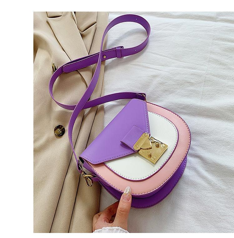 Hit del semicerchio di colore borse sella 2020 Borsello per le donne dell'unità di elaborazione borse a spalla in pelle per la femmina Designer Borse Bolsas