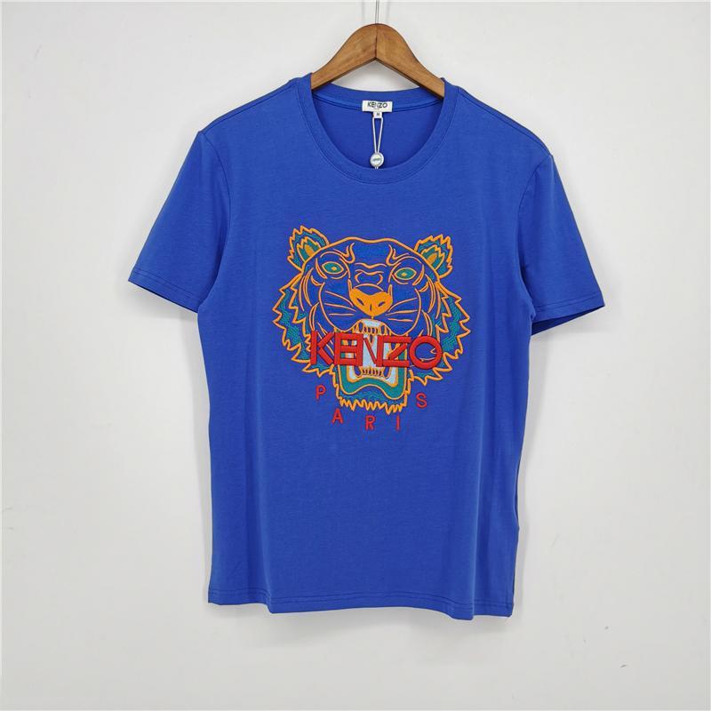 Moda Marka Erkek Tasarımcısı Tişörtler Kız Tişört Kısa Kollu Gömlek Tiger Mektupları Kadın Yaz Tees Üst Kalite Mavi B1TRE4 2031706V