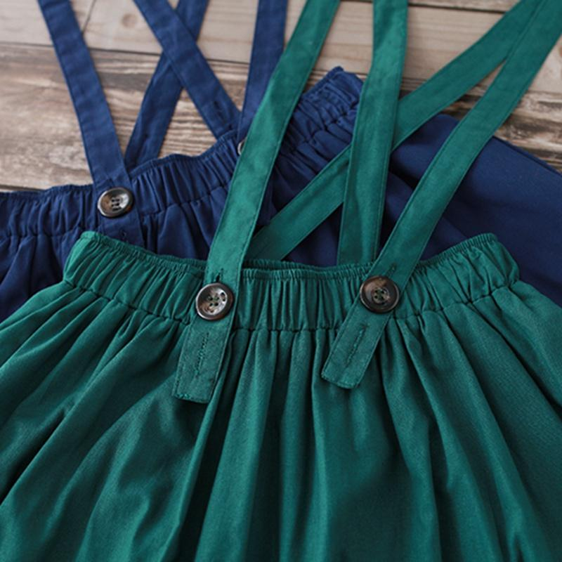 Clobee lolita kızlar Etekler Kadınlar Yaz Yüksek Bel Pileli Etek Moda Yeşil Mavi Kız Yarım Boy Etek Pamuk Keten Giyim