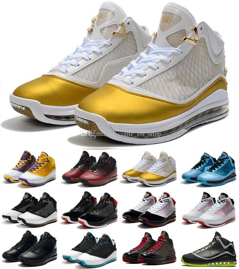 2022 LeBrons 7 Düşük Açık Ayakkabı Taze Bred Fairfax Varsity Kırmızı Lightyear LeBron Sneaker 7 S Spor Eğitmenleri Boyutu 40-46