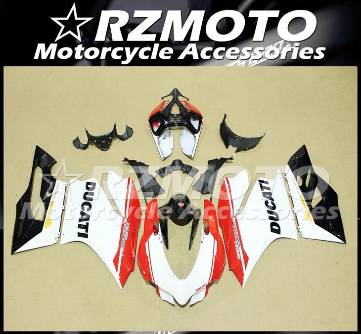qualité OEM moule d'injection nouveaux ABS moto Kits Carénage Fit Pour DUCATI 899 Panigale 1199 899S 1199S 2013 2014 2015 Personnalisé Noir Blanc Rouge