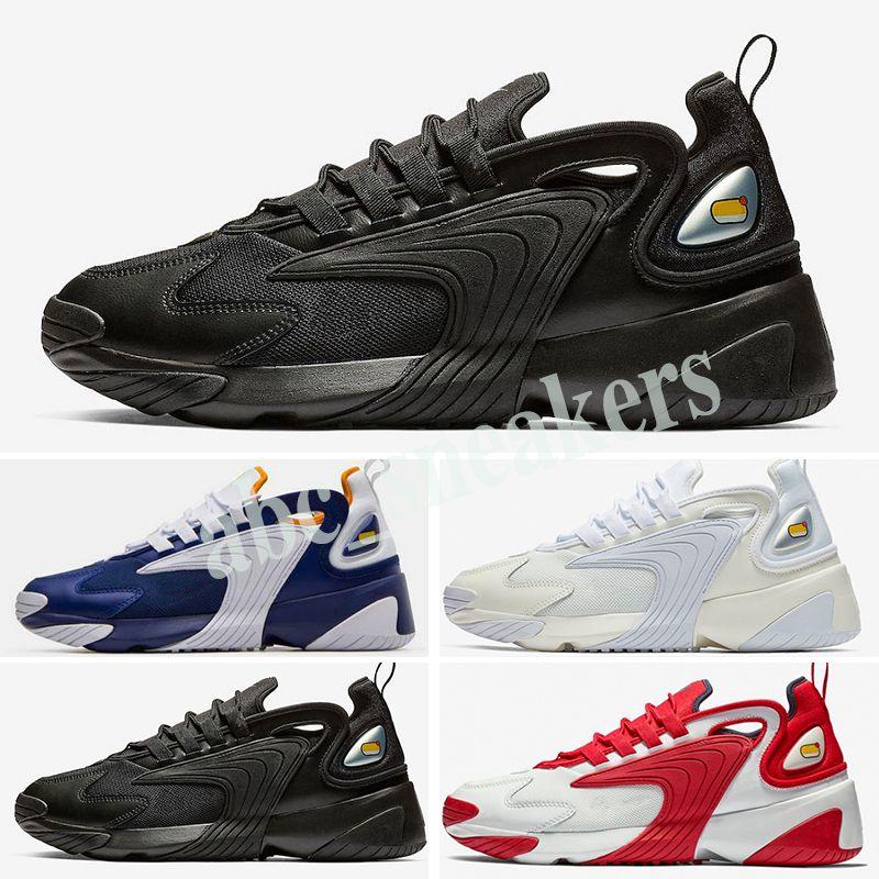 Nike zoom 2K 2000 Топ M2k Tekno Zoom 2K мужские женские кроссовки мода 2000 Race красный черный белый динамический желтый серый инфракрасный кроссовки Кроссовки b03