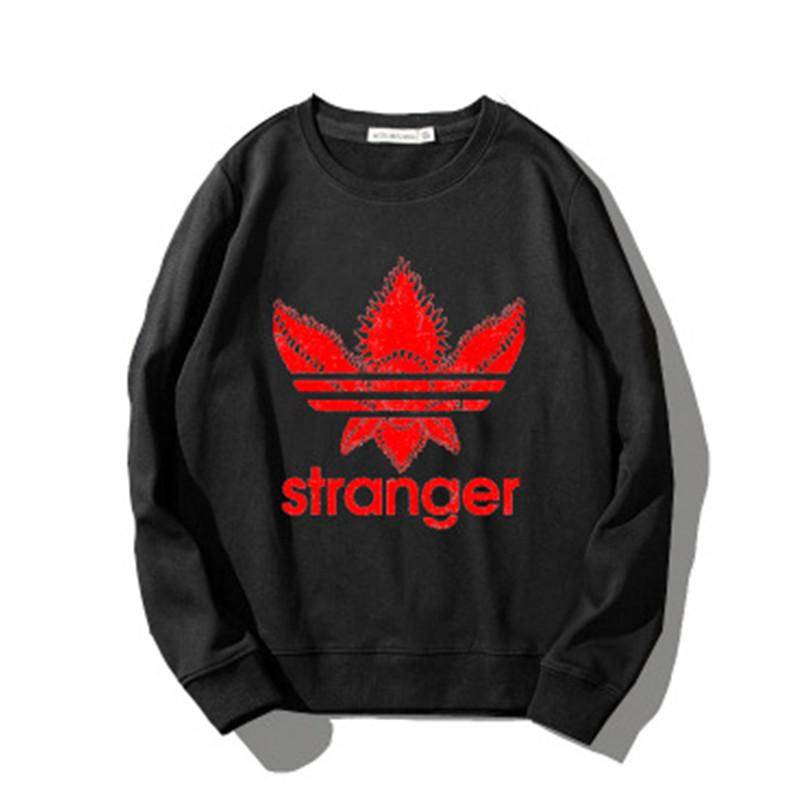 Mens Designer Sweatshirt Fahsion Crewneck Pullover Stranger Things Printing for Male Women Brand Clothes Good Quality 6 Colors Size XS-3XL
