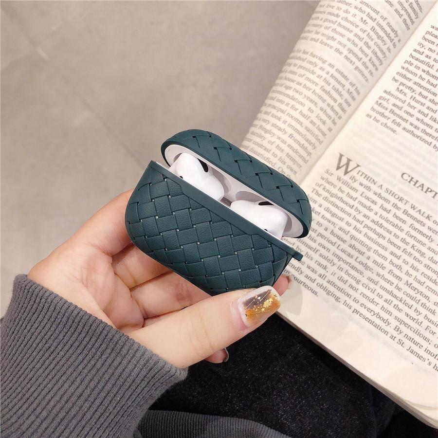 Mode silicone souple Earbuds pomme AirPod 1 2 gousses d'air Housse de protection pro cas AirPod pro AIRPOD CAS cas Texture Funda
