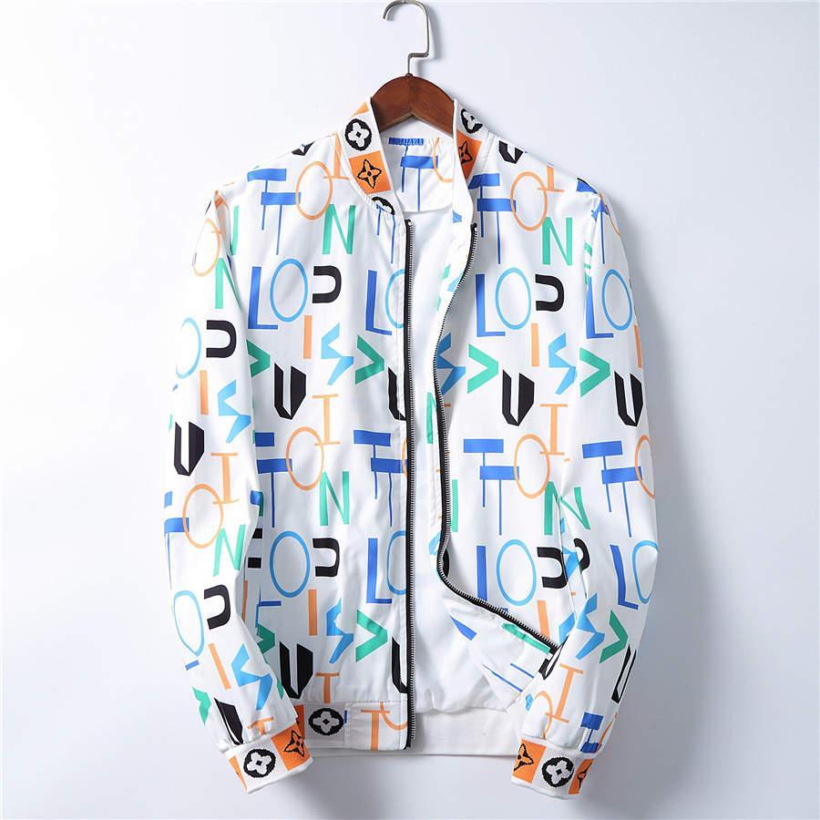 Hombre del diseñador ocasional de la chaqueta chaquetas con capucha de los hombres de moda del patrón de impresión capa de la chaqueta de manga larga de la cremallera al aire libre cazadora de invierno Streetwear