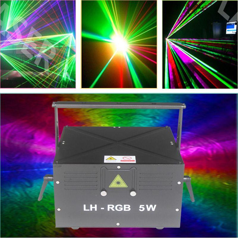 Ilda DMX512 5000mW Animazione Scrittura Laser Illuminazione laser / RGB Disco Discoteche All'aperto Natale Full Color Projector
