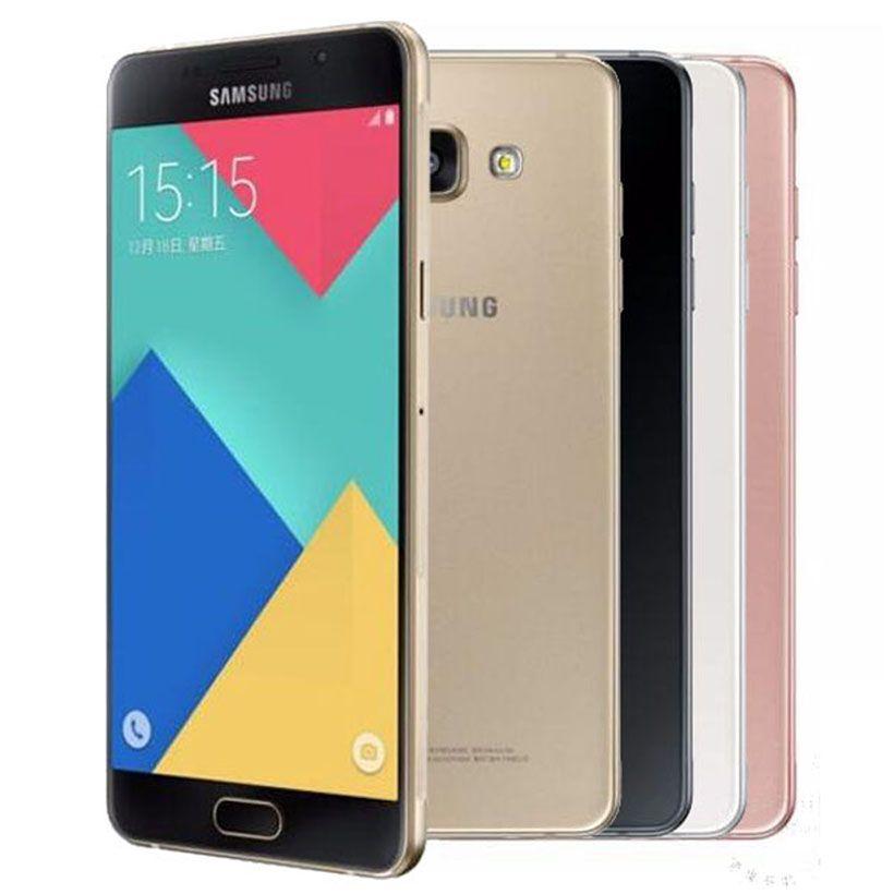 Оригинальный Восстановленное Samsung Galaxy A7 2016 A7100 Dual SIM 5,5 дюйма окта Ядро 3GB RAM 16GB ROM 13 Мпикс 4G LTE разблокирована сотовый телефон DHL 10шт