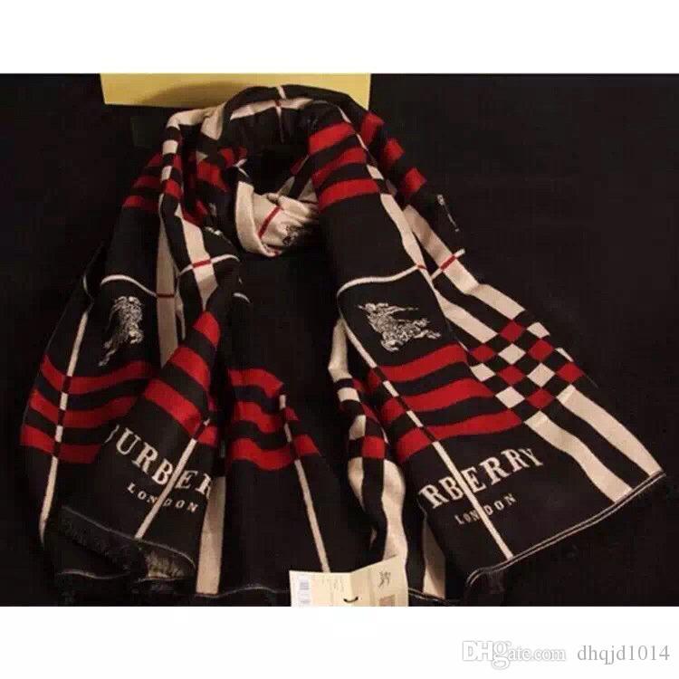 Regalo 2019 Inverno di lusso 100% sciarpa di cachemire uomini e le donne classici del progettista Big plaid Sciarpe Pashmina Infinity Sciarpe