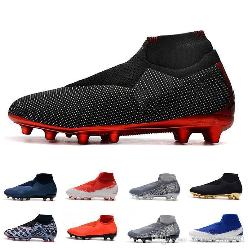 2019 Mens Phantom Crampons VSN Elite DF FG AG Chaussures de soccer extérieur x EA Sports Phantom Vision Chaussures de football Scarpe Calcio Eur 39-45