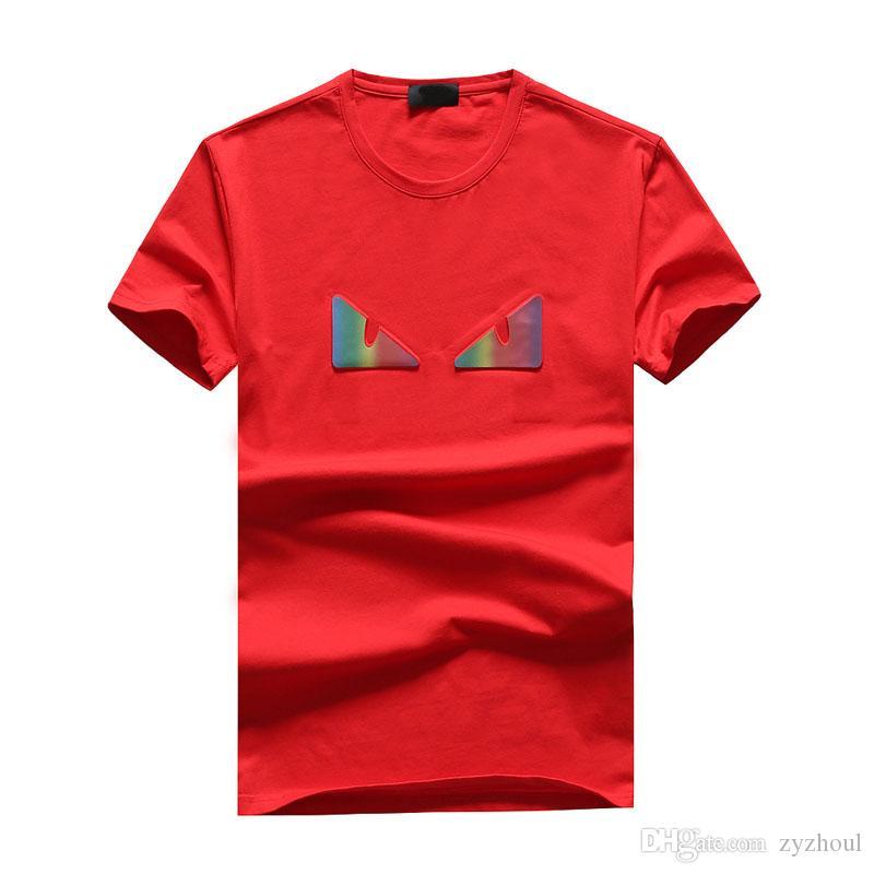 # 1520 Verano Nueva tendencia de la moda masculinos camiseta de los hombres de impresión de letras manga corta camiseta hombre camisetas de algodón para hombre Hip Hop tes de las tapas