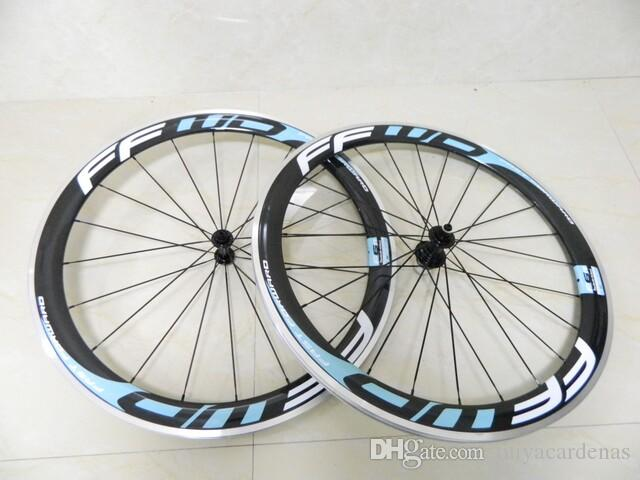 Aluminum Wheels FFWD F6R 50mm clincher bicycle wheels Carbon fiber fast forward road and racing cycling wheelset