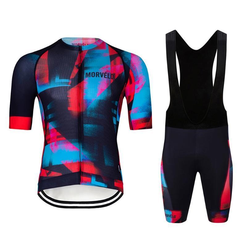 2020 New Morvelo été cyclisme maillot Set Racing Sport Vélo Maillot Cuissards Costume Gel Short VTT Vélo Vêtements Ropa Ciclismo