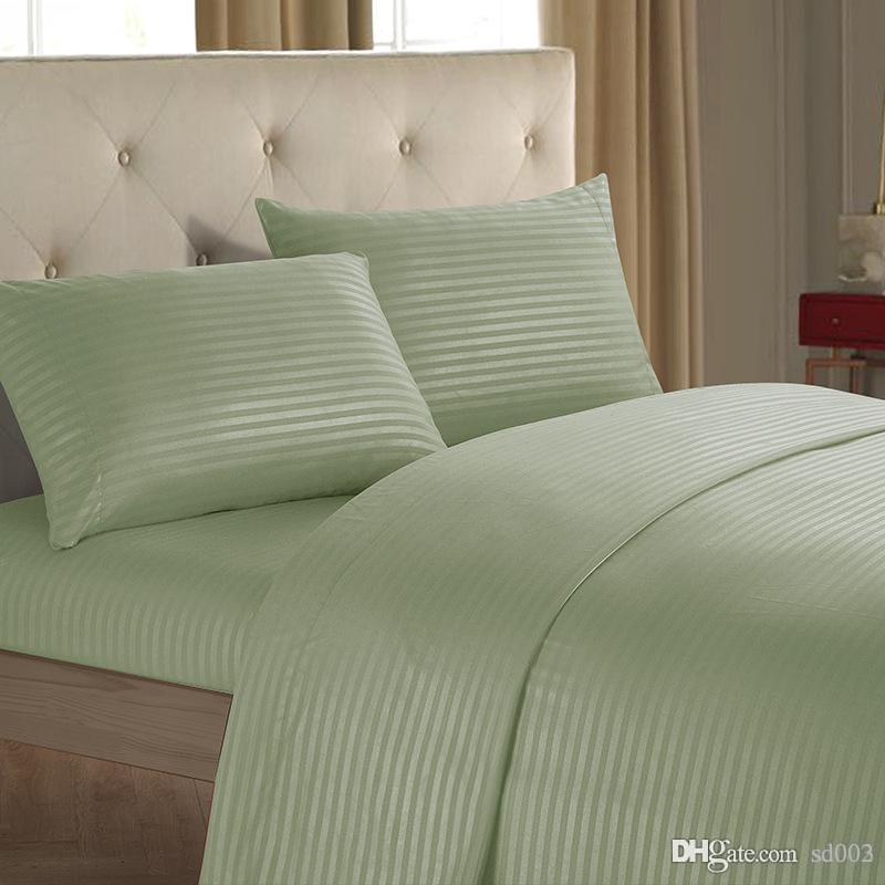 Imitation Satin Bar Quilt Cover Reactive Printing And Dyeing Four Piece Suit Home Textiles Pillow Case On The Bed Plain Colour 58wo3b1