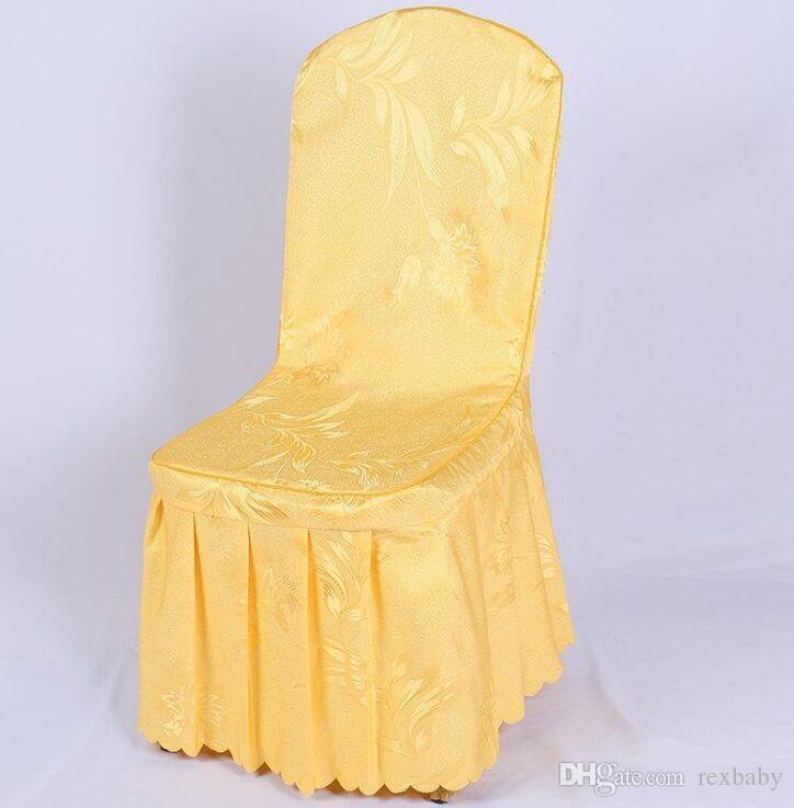 Acheter Housses De Chaise En Polyester Pour Mariage Banquet De