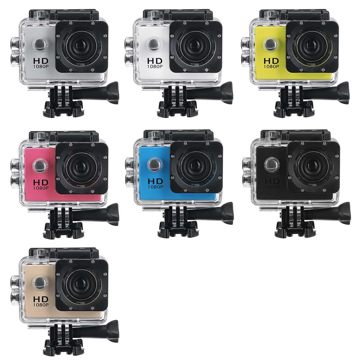 1080P 2.0'' Camera Recorder LCD Screen Waterproof Outdoor Skiing Driving Sport DV Camcorder Multifunctional