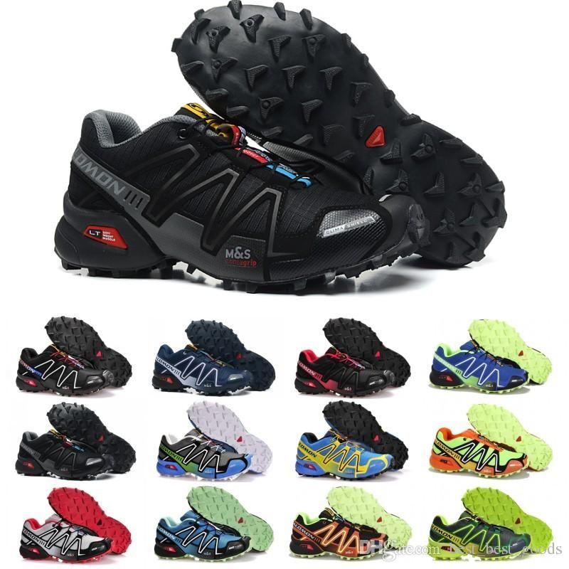 2019 Salomon Speed Cross 3 CS Running Shoes Men Women SpeedCross Outdoor Hiking Sneakers Black White Red Mens Designer Athletic Sports Size 36 46 From