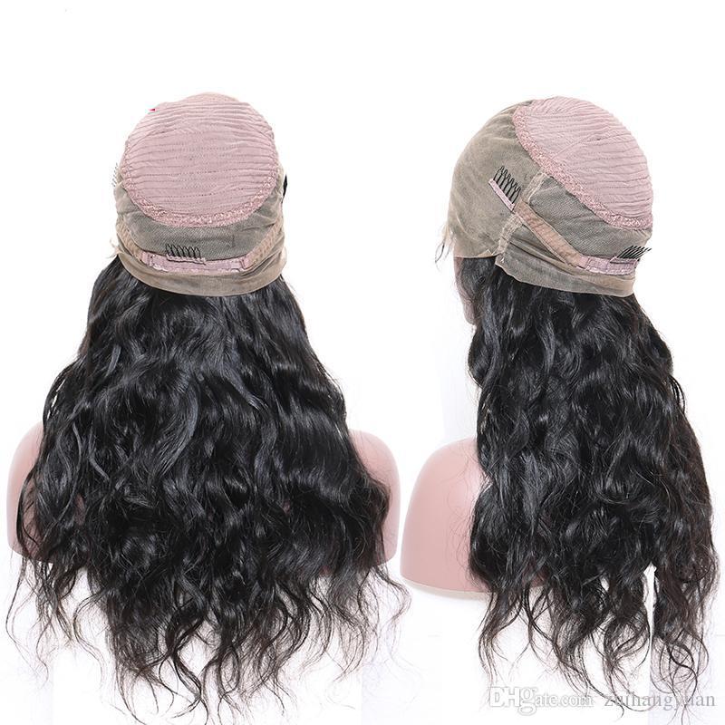 Body Wave Frontal del merletto parrucca 360 con la frangetta Pre pizzico dei capelli del bambino 180% brasiliana merletto della parte anteriore dei capelli umani parrucche per le donne Remy