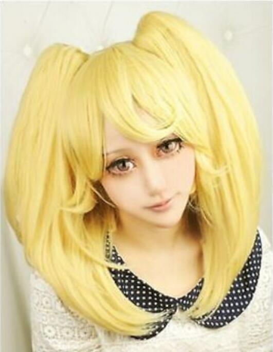 PERUK nakliye Danganronpa Dangan-Ronpa Saionji Hiyoriko Yeni Saç Moda Cosplay Peruk + Ponytails