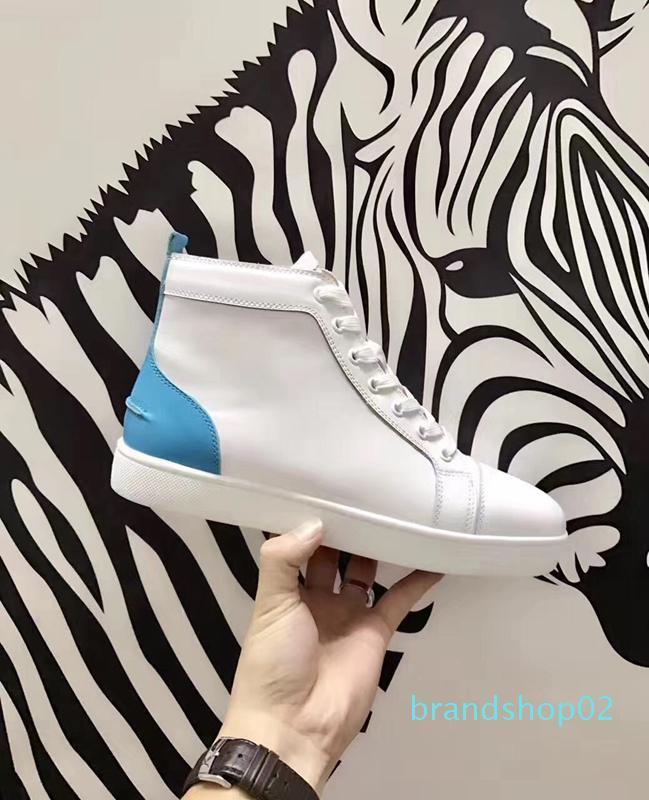 Christian Louboutin CL  Luxusschuh Mode Marke mit Nieten Spikes Wohnung Luxus-Schuh-Marken-Art- Luxuxentwerfer Turnschuhe mit dem Kasten 22