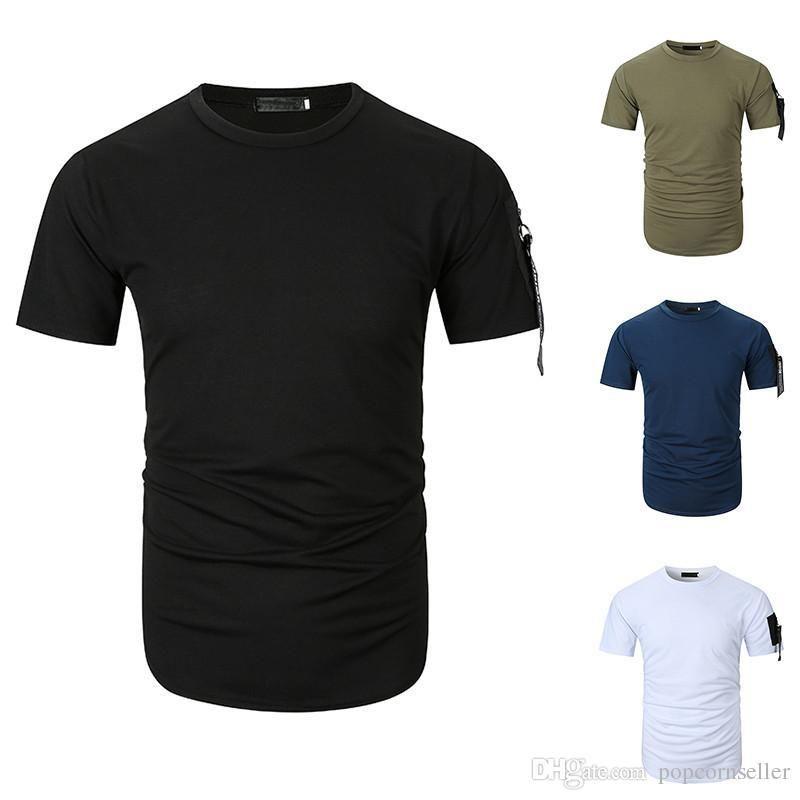 Large Size Kurzärmlig Rundhalsausschnitt Funsport-Männer-T-Shirt Mode Männer T-Männer Designer-T-Shirt